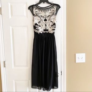 Black Gown Dress Mesh Homecoming Party Small